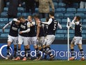 Millwall's Connor Mahoney celebrates scoring their third goal on January 1, 2020