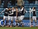 Millwall's Connor Mahoney celebrates scoring their third goal on January 1, 2020