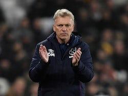 West Ham United manager David Moyes on January 1, 2020