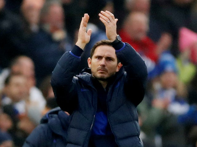Chelsea manager Frank Lampard celebrates after the match on January 1, 2020