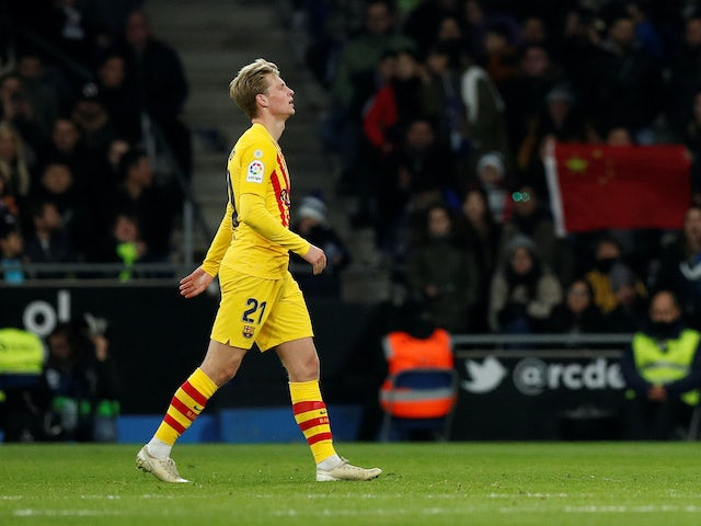 Barcelona boss Valverde says De Jong's red card 'did us damage' in derby draw