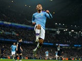 Manchester City's Gabriel Jesus celebrates scoring their second goal on January 1, 2020