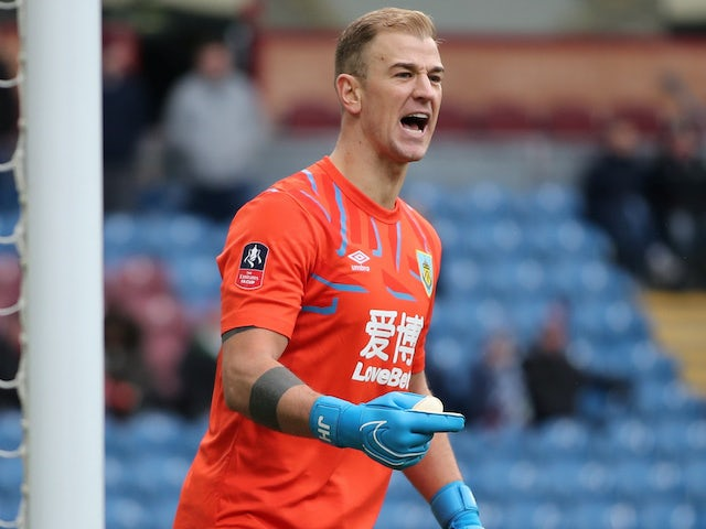 Joe Hart in action for Burnley on January 4, 2020