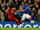 Liverpool's Curtis Jones scores against Everton in the FA Cup on January 5, 2020