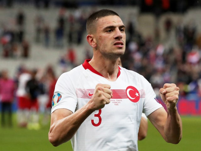 Juventus and Turkey defender Merih Demiral pictured on international duty in November 2019