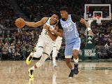 Milwaukee Bucks forward Giannis Antetokounmpo (34) drives for the basket as Minnesota Timberwolves guard Jarrett Culver (23) defends during the second quarter at Fiserv Forum on January 2, 2020