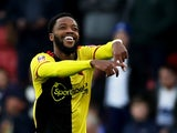 Watford's Nathaniel Chalobah celebrates scoring their second goal on January 4, 2020