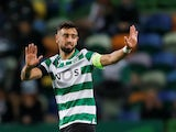 Bruno Fernandes in action for Sporting on November 28, 2019
