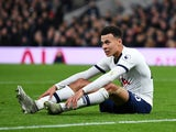 Dele Alli pops a squat during the Premier League game between Tottenham Hotspur and Liverpool on January 11, 2020