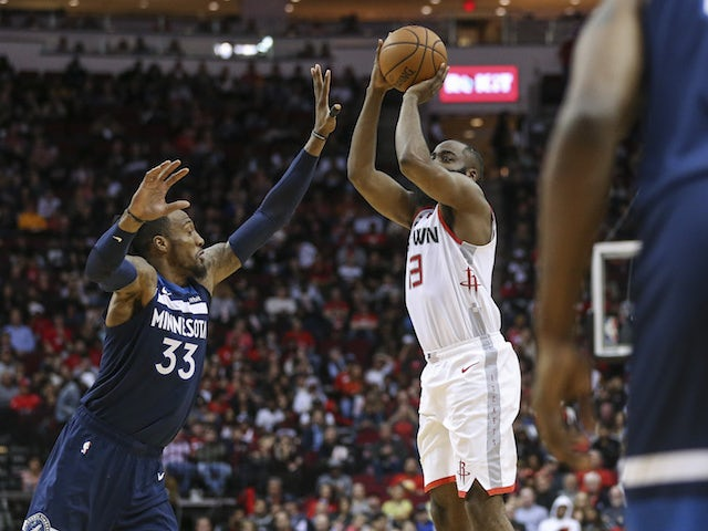 NBA roundup: James Harden passes 20,000 points as Rockets beat Timberwolves