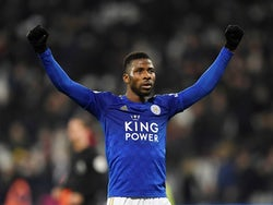 Leicester City's Kelechi Iheanacho celebrates after the match on December 28, 2020
