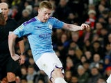 Kevin De Bruyne in action for Manchester City on January 7, 2020
