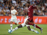 Metz forward Habib Diallo in action against Paris Saint-Germain in August 2019