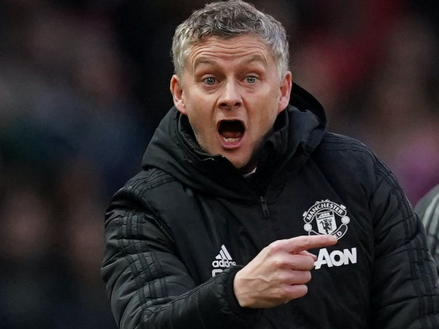 Manchester United manager Ole Gunnar Solskjaer on January 11, 2020