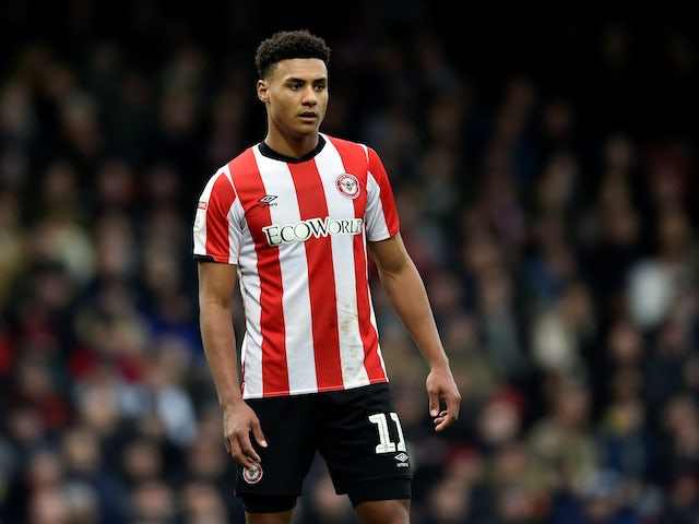 Ollie Watkins in action for Brentford on January 11, 2020
