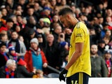 Arsenal's Pierre-Emerick Aubameyang sees red on January 11, 2020