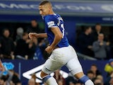 Richarlison celebrates scoring for Everton on January 11, 2020