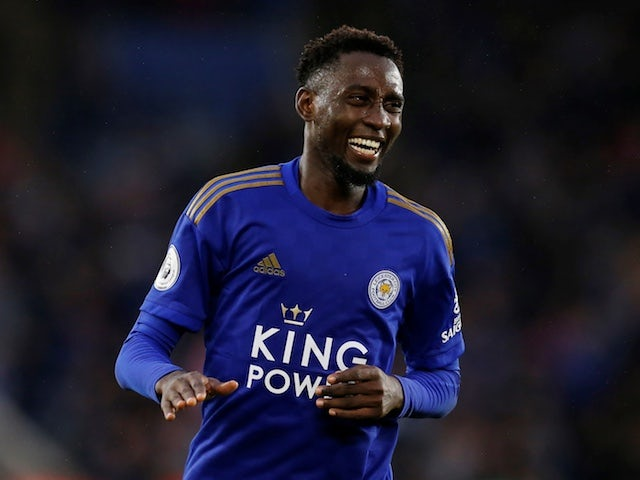 Leicester City's Wilfred Ndidi celebrates scoring their fifth goal in September 2019