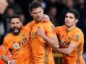 Leander Dendoncker celebrates equalising for Wolves on January 11, 2020