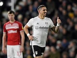 Fulham's Anthony Knockaert celebrates scoring their first goal on January 17, 2020