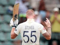 England's Ben Stokes celebrates his century on January 17, 2020