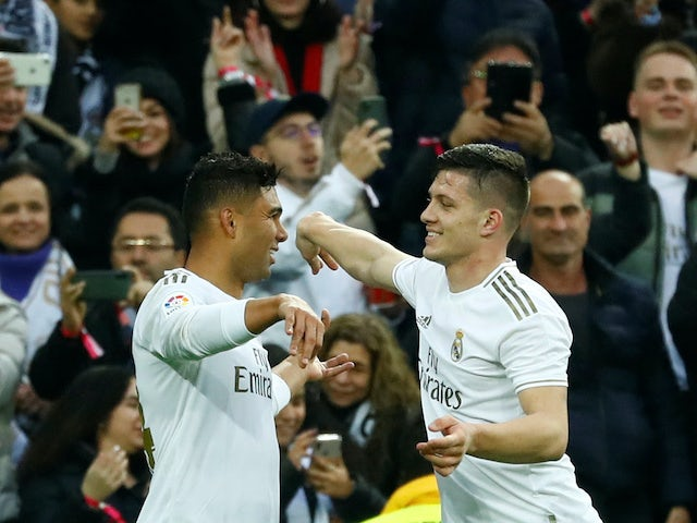 Result: Casemiro double sends Real Madrid top of La Liga