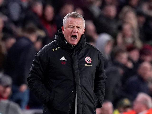 Sheffield United manager Chris Wilder reacts on January 10, 2020
