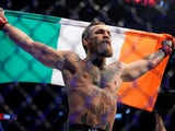 Conor McGregor celebrates victory on January 18, 2020