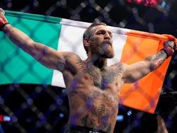 Conor McGregor celebrates victory on January 18, 2020