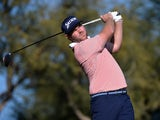 Grayson Murray plays his shot from the ninth tee during the first round of The American Express golf tournament on the Stadium Course at PGA West on January 16, 2020