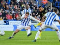 Bryan Mbuemo in action for Huddersfield on January 18, 2020