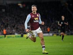 Jack Grealish celebrates scoring for Aston Villa on January 18, 2020