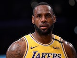 LeBron James in action for the Lakers on January 13, 2020