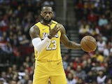 LeBron James in action for the Lakers on January 18, 2020
