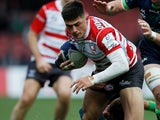 Louis Rees-Zammit in action for Gloucester on December 5, 2019