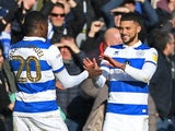 Nahki Wells celebrates scoring for Queens Park Rangers on January 18, 2020