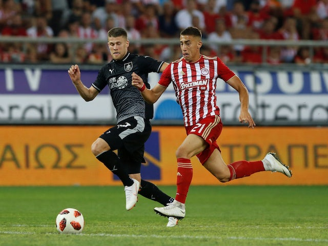 Olympiacos defender Konstantinos Tsimikas pictured in August 2018