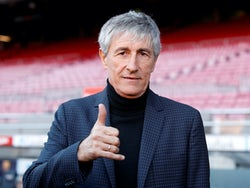 New Barcelona manager Quique Setien on January 14, 2020