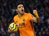 The mighty Raul Jimenez celebrates scoring for Wolves on January 18, 2020