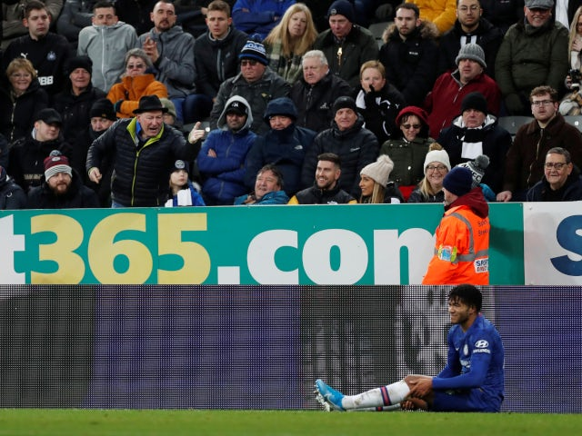 Chelsea's Reece James suffers knee injury against Newcastle United in the Premier League on January 18, 2019.