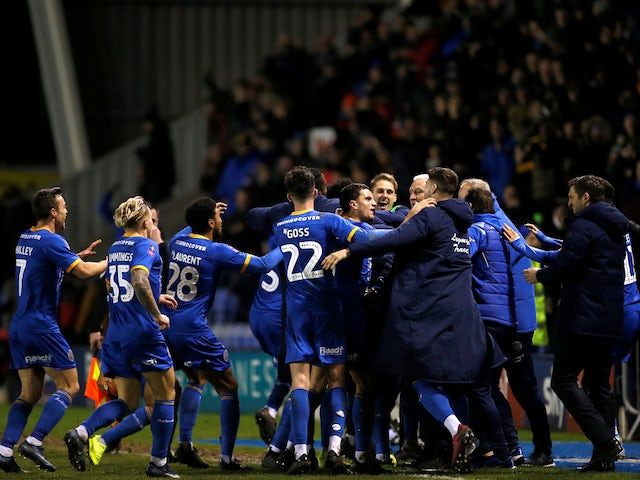 Result: Shrewsbury shock Bristol City to set up Liverpool showdown