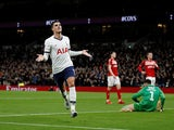 Tottenham Hotspur's Erik Lamela celebrates scoring their second goal on January 14, 2020