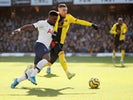 Watford's Gerard Deulofeu in action with Tottenham Hotspur's Serge Aurier in the Premier League on January 18, 2020