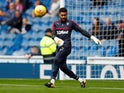 Wes Foderingham warms up for Rangers in September 2017