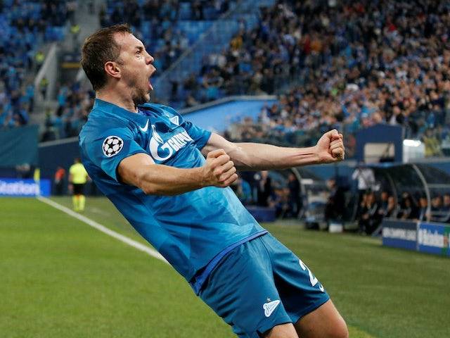 Artem Dzyuba in action for Zenit on November 27, 2019