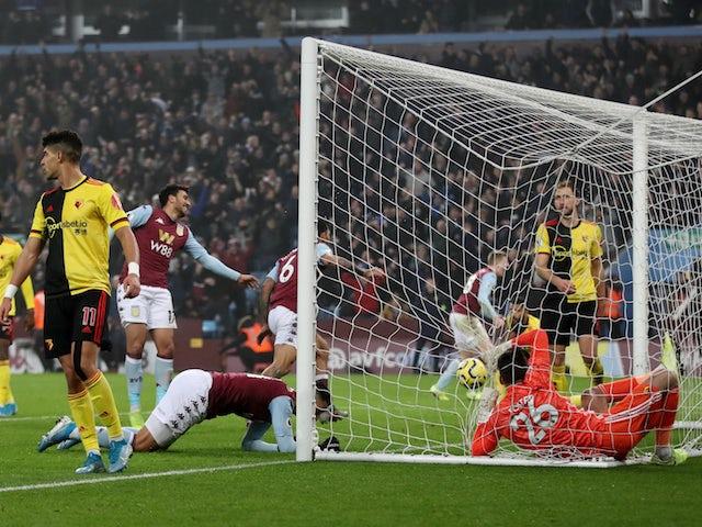 Result: Aston Villa climb out of bottom three with last-gasp winner over Watford