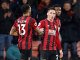 Bournemouth's Harry Wilson celebrates scoring their first goal with Callum Wilson on January 21, 2020