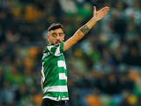 Bruno Fernandes in action for Sporting on January 17, 2020