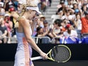 An emotional Caroline Wozniacki at the Australian Open on January 24, 2020