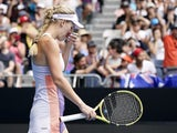 An emotional Caroline Wozniacki at the Australian Open on January 24, 2020